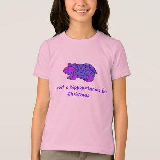 Hippopotamus fir Christmas shirt