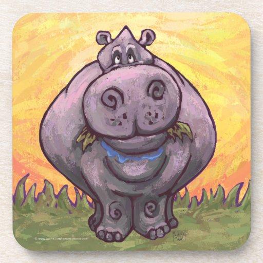 Hippopotamus Gifts & Accessories Beverage Coaster