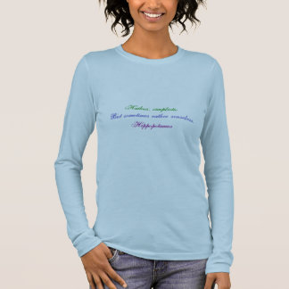 Hippopotamus Haiku Long Sleeve T-Shirt