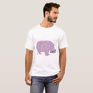 Hippopotamus moustache Men's Basic T-Shirt, White T-Shirt