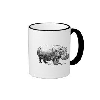 Hippopotamus Ringer Mug