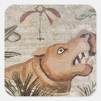 Hippopotamus, Nile mosaic, House of the Faun Square Sticker