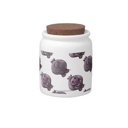 Hippopotamus Patterns Candy Jars