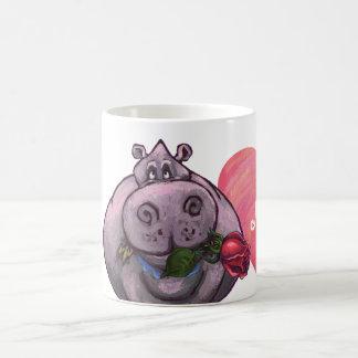 Hippopotamus Valentine's Day Coffee Mug