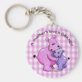Hippos-A Mother's love is grand! Key Ring