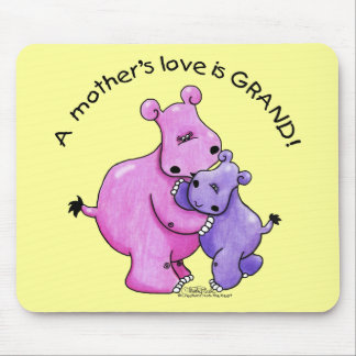 Hippos-A Mother's love is grand! Mouse Mat
