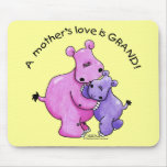 Hippos-A Mother's love is grand! Mouse Pad