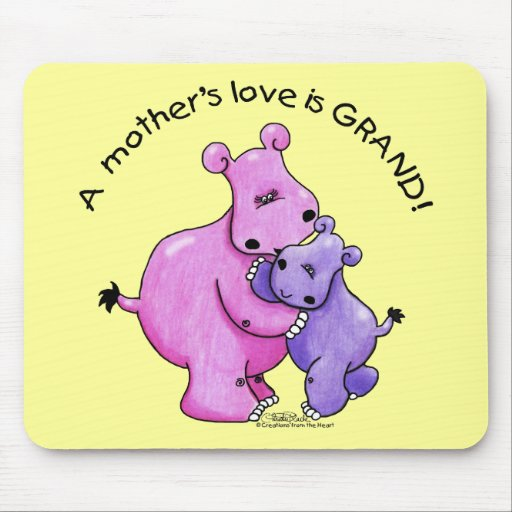 Hippos-A Mother's love is grand! Mousepad