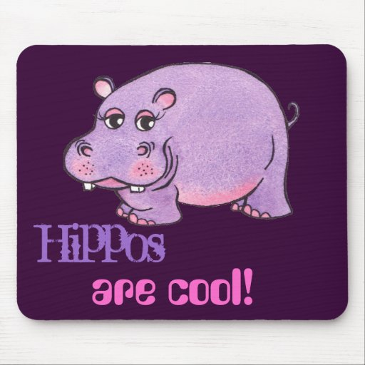hippos are cool mouse pad zazzle. Black Bedroom Furniture Sets. Home Design Ideas