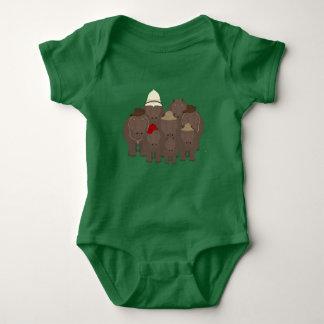 Hippos Baby Bodysuit