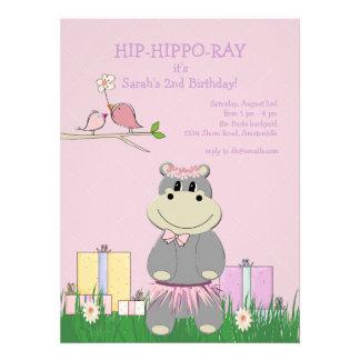 Hippo's Birthday Invitation
