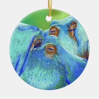 Hippos Christmas Ornament