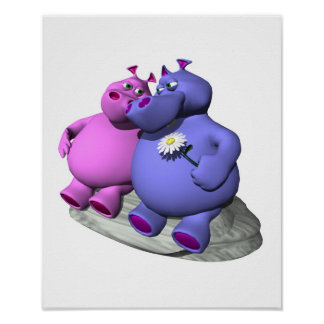 hippos in love posters