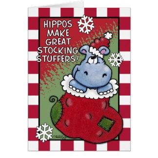Hippos Make GREAT Stocking Stuffers Card