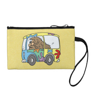 hippy and van with peace coin wallets