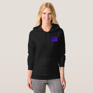 Hippy Angel Black on Purple Logo Hoodie