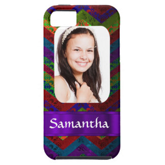 Hippy chevron personalized photo template iPhone 5 case