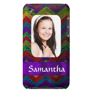 Hippy chevron personalized photo template iPod touch Case-Mate case