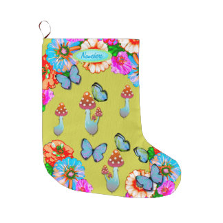 Hippy Chic, Flower Child Holiday Stocking