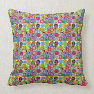 Hippy Chic Psychedelic Floral Pillow