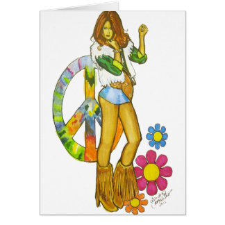 Hippy Chick Card