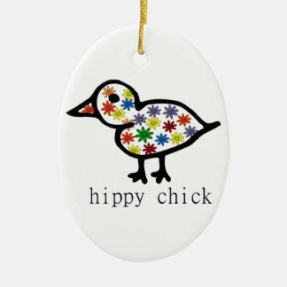 Hippy Chick Ceramic Oval Decoration