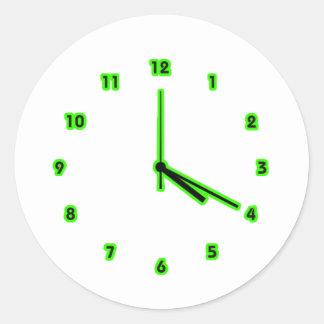 Hippy clock outline round sticker