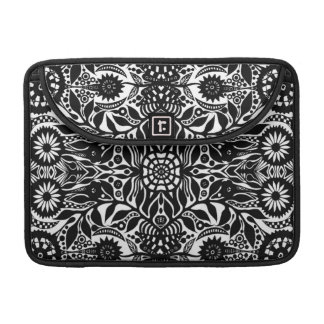 Hippy Dreams In Black and White Sleeve For MacBooks
