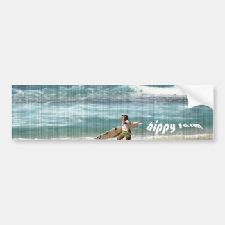 hippy farm bumper sticker