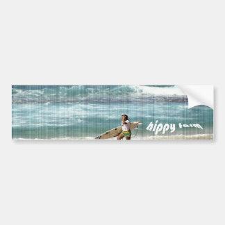 hippy farm bumper sticker