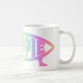 Hippy fish Rainbow Mug