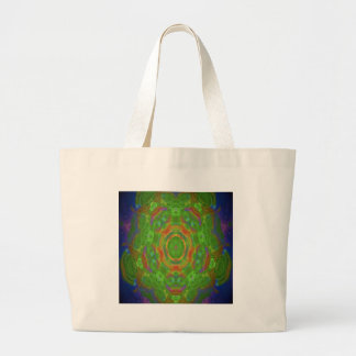 Hippy flower abstract design tote bag