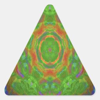 Hippy flower abstract design triangle sticker