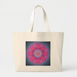 hippy flower design tote bags