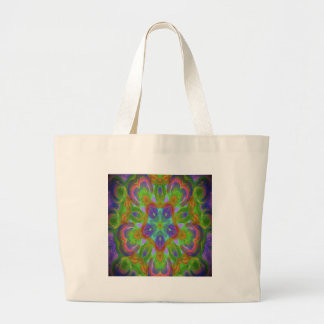 Hippy flower design tote bag