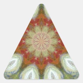 hippy flower design triangle sticker