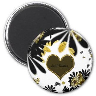 """Hippy Flower passion""* 6 Cm Round Magnet"