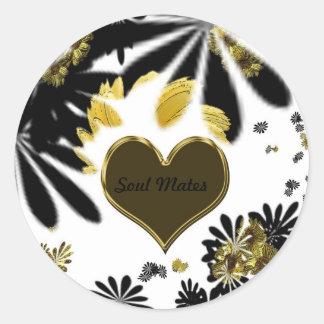 """""""Hippy Flower passion""""* Round Sticker"""
