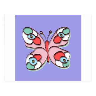 Hippy Fly Butterfly Postcard
