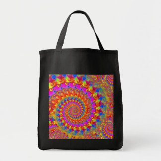 Hippy Fractal Pattern Pink Turquoise & Yellow