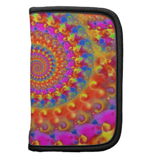 Hippy Fractal Pink Turquoise and Yellow Folio Planners