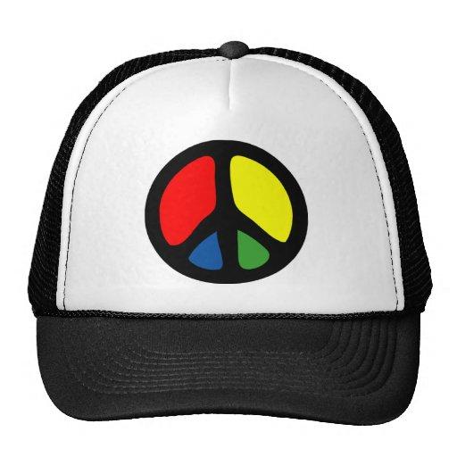 Hippy Groovy Peace Symbol Cap