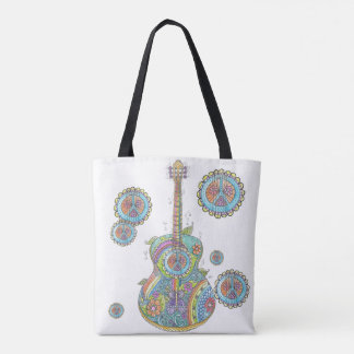Hippy Guitar Custom All-Over-Print Tote Bag