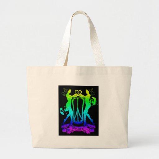 hippy heart canvas bag