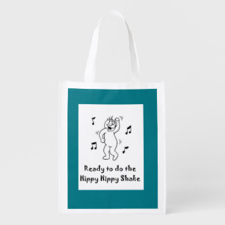Hippy Hippy Shake - Funny Post-hip surgery Reusable Grocery Bag