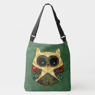 Hippy Owl Boho Bohemian Bird Custom Crossbody Bag