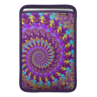 Hippy Pattern Purple Turquoise and Yellow MacBook Sleeve