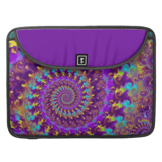 Hippy Pattern Purple Turquoise and Yellow Sleeve For MacBooks