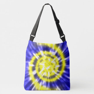 Hippy Peace Retro Tie Dye Colorful Boho Crossbody Bag