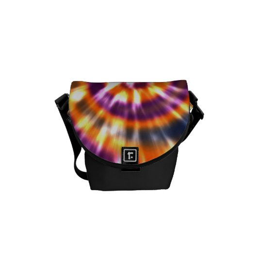 Hippy Peace Retro Tie Dye Colourful Boho Commuter Bag